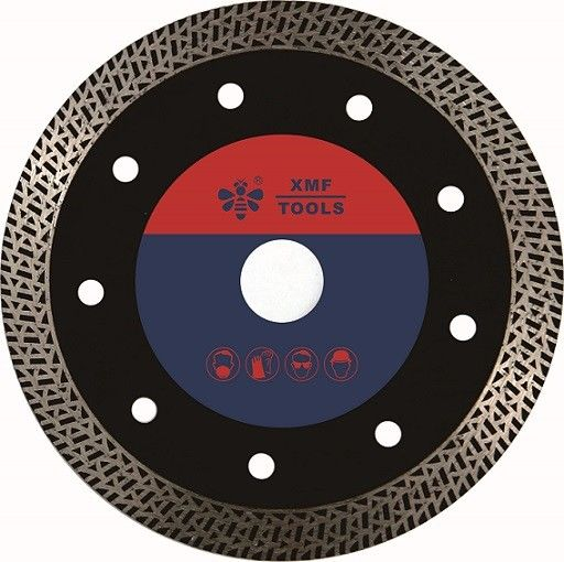 Rock Cutting Thin Diamond Circular Saw Blade Concrete  125mm 230mm  Hot Pressed Meshy