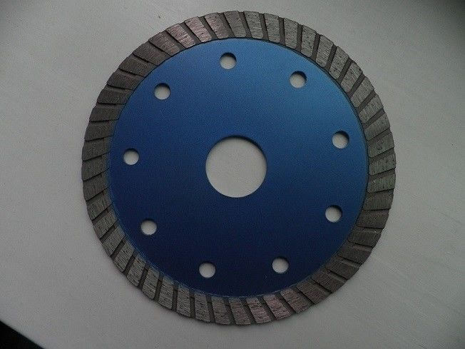 Brick Cutting Turbo Diamond Saw Blade , 115mm Angle Grinder Diamond Discs   6 Inches Dark Blue